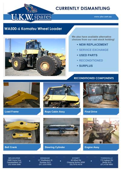 WA500-6 Komatsu Wheel Loader