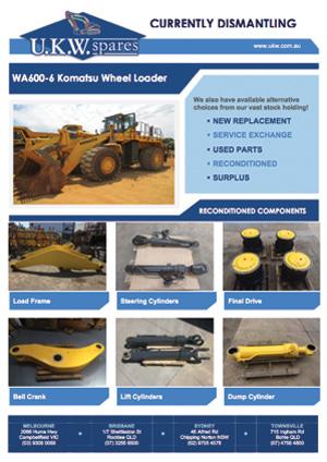 WA600-6 Komatsu Wheel Loader